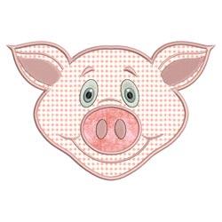 Applique Animal Faces Pig