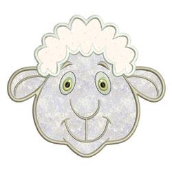 Applique Animal Faces Sheep