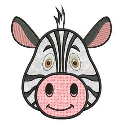 Applique Animal Faces Zebra