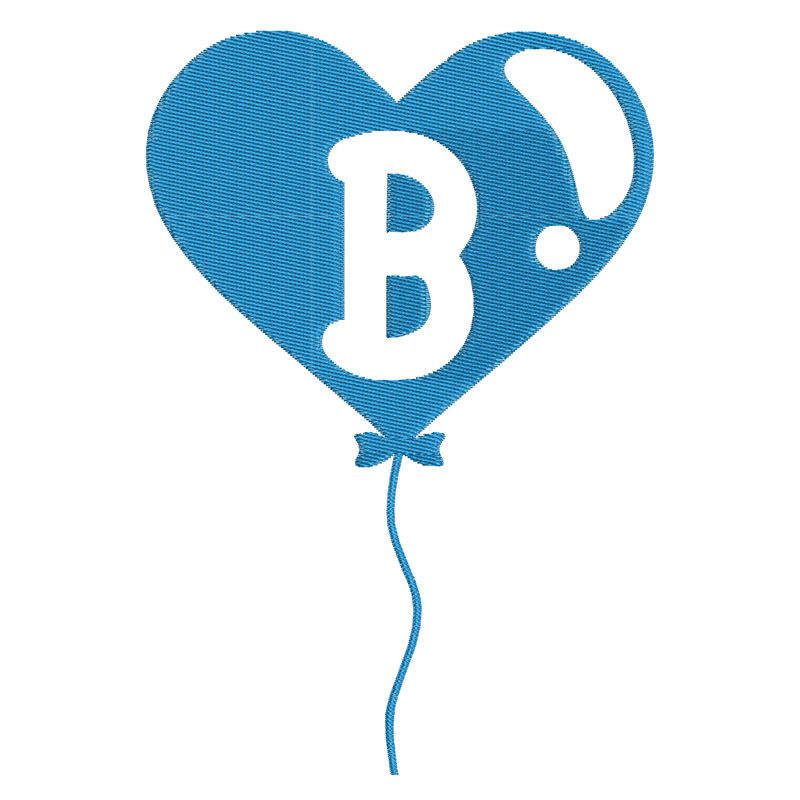 Happy Birthday Balloon Letter B