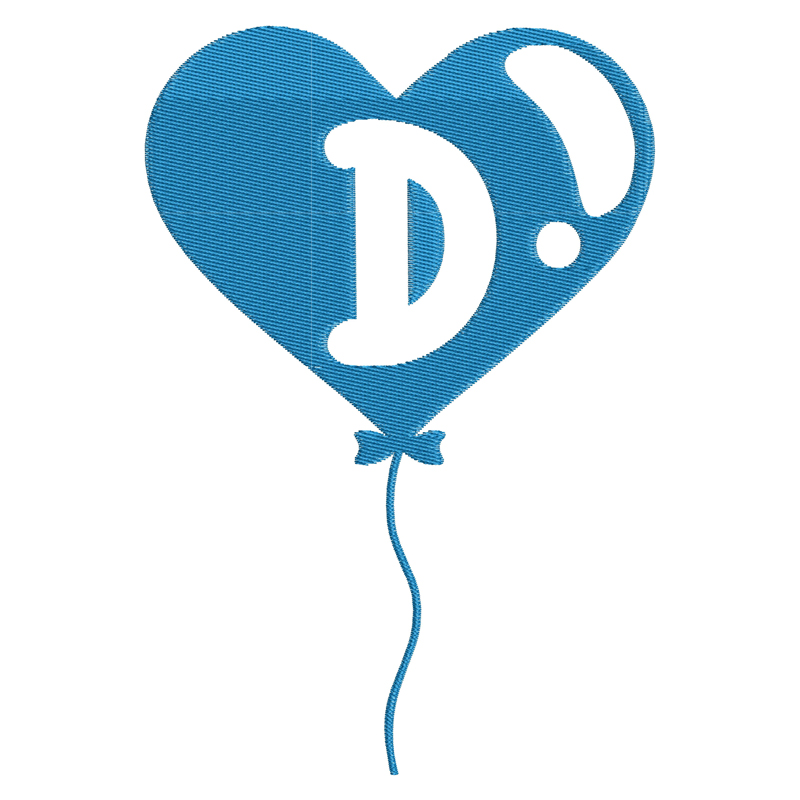 Happy Birthday Balloon Letter D