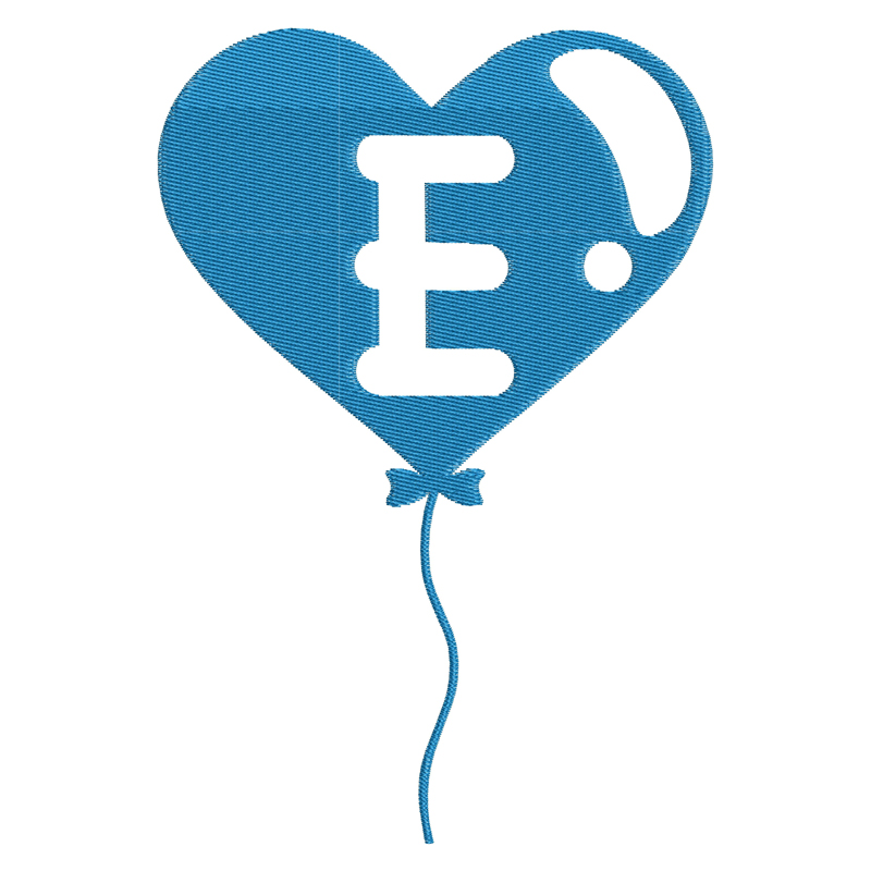 Happy Birthday Balloon Letter E