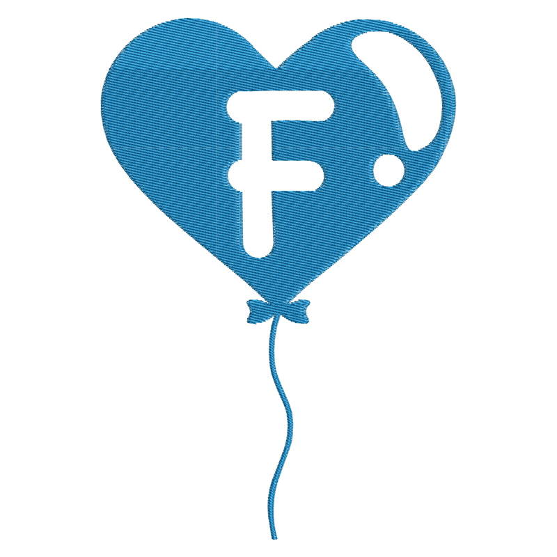 Happy Birthday Balloon Letter F