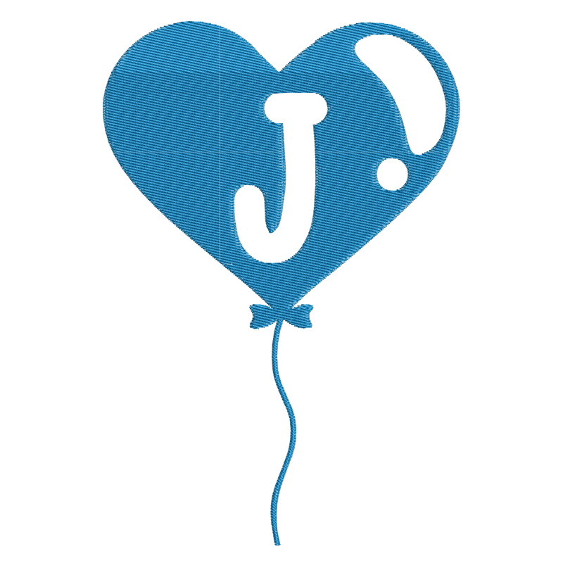Happy Birthday Balloon Letter J