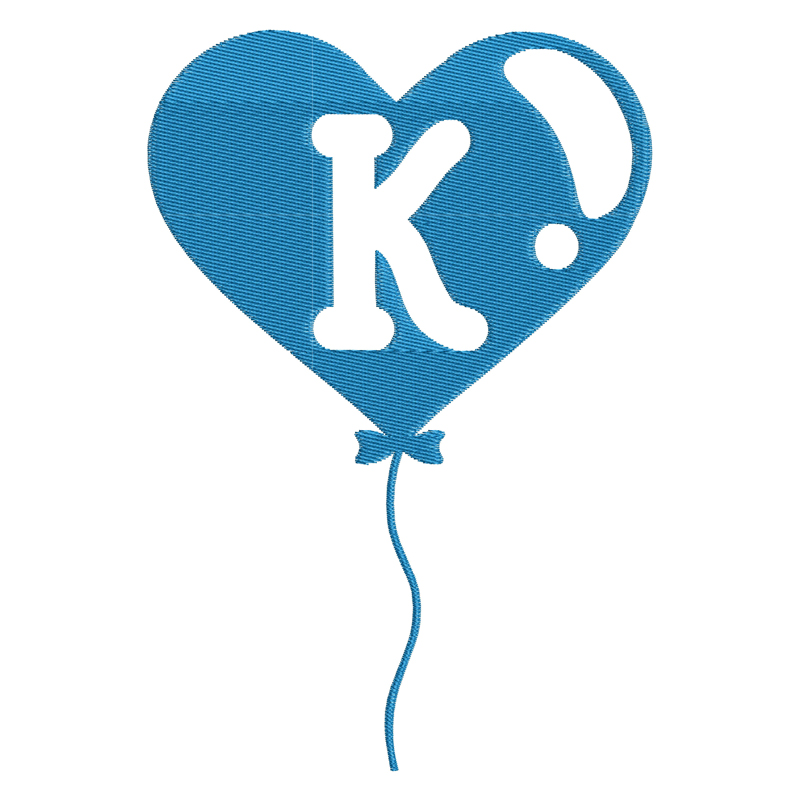 Happy Birthday Balloon Letter K