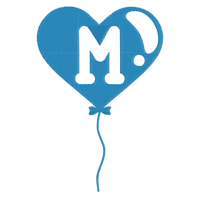 Happy Birthday Balloon Letter M