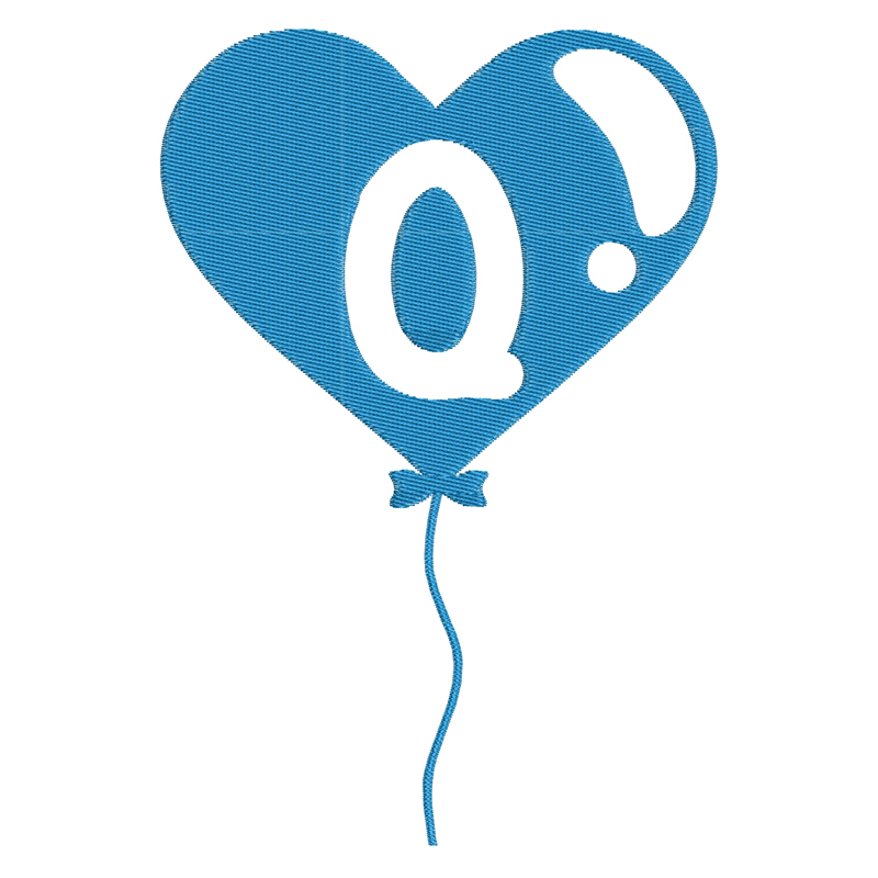Happy Birthday Balloon Letter Q