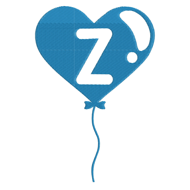 Happy Birthday Balloon Letter Z