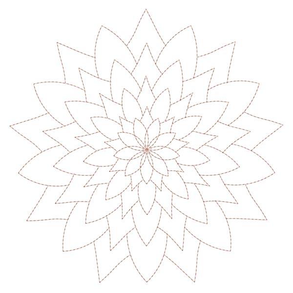 Simple Mandala Blocks Set 1 & 2-4