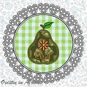 FSL Applique Pear Coaster