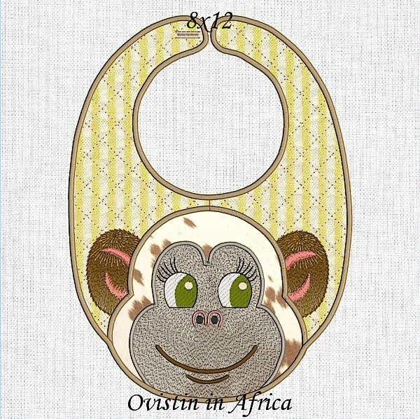 Classic Applique Animal Bibs Large