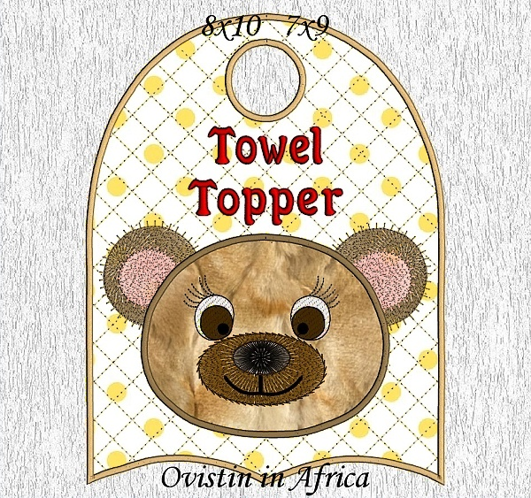 Nursery Animal Towel Toppers