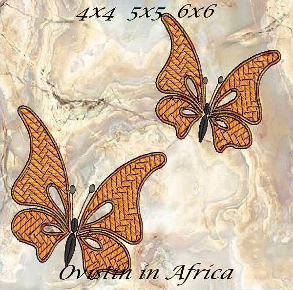 Cutwork Butterflies 4x4 5x5 6x6-4