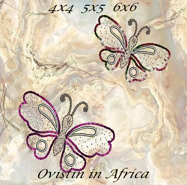 Cutwork Butterflies 4x4 5x5 6x6-7