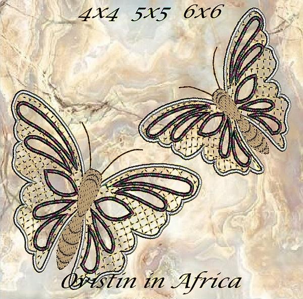 Cutwork Butterflies 4x4 5x5 6x6-8