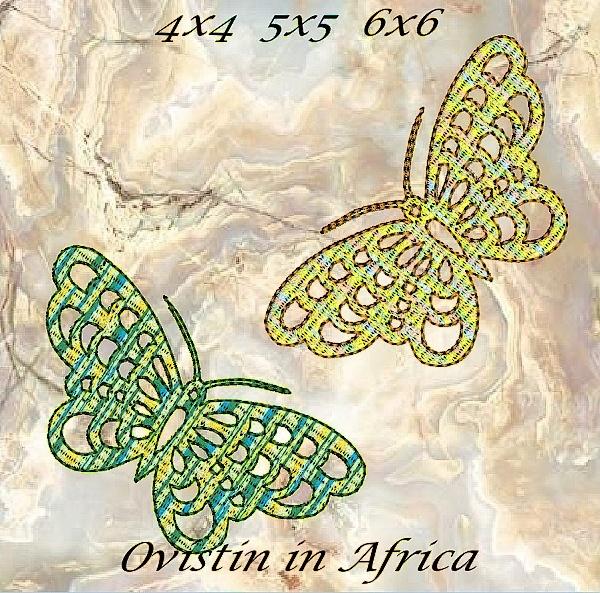 Cutwork Butterflies 4x4 5x5 6x6-9