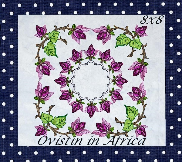 Rose Quilt Blocks and Borders-3
