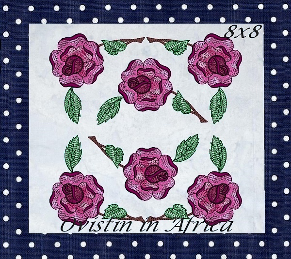 Rose Quilt Blocks and Borders-12