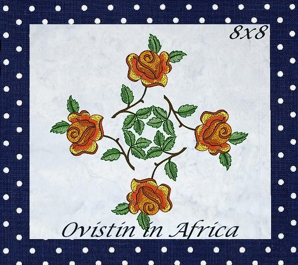 Rose Quilt Blocks and Borders-13