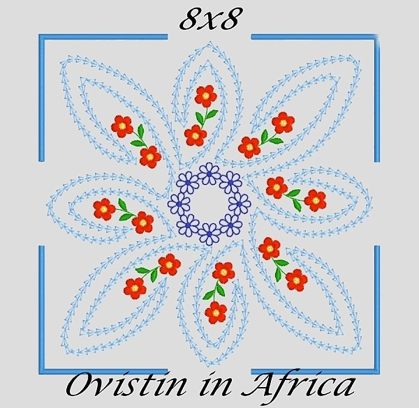 Twerly Quilt Blocks and Flowers.-10