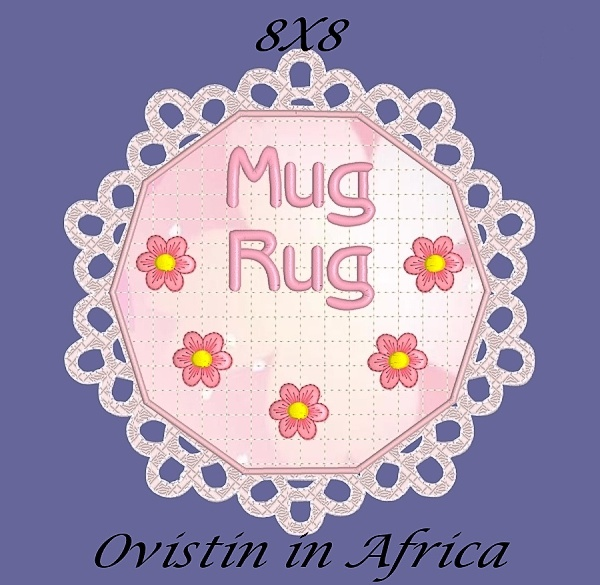 FSL Applique Mug Rugs 8x8-3
