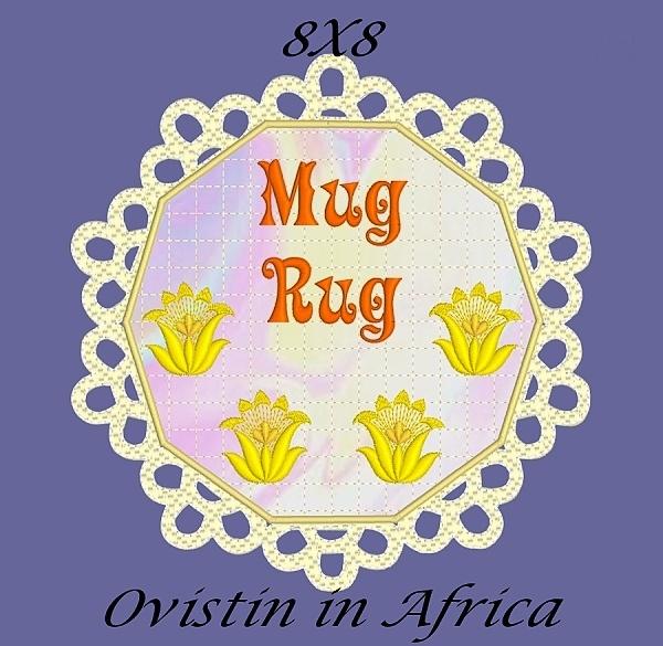 FSL Applique Mug Rugs 8x8-7