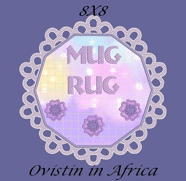 FSL Applique Mug Rugs 8x8-15