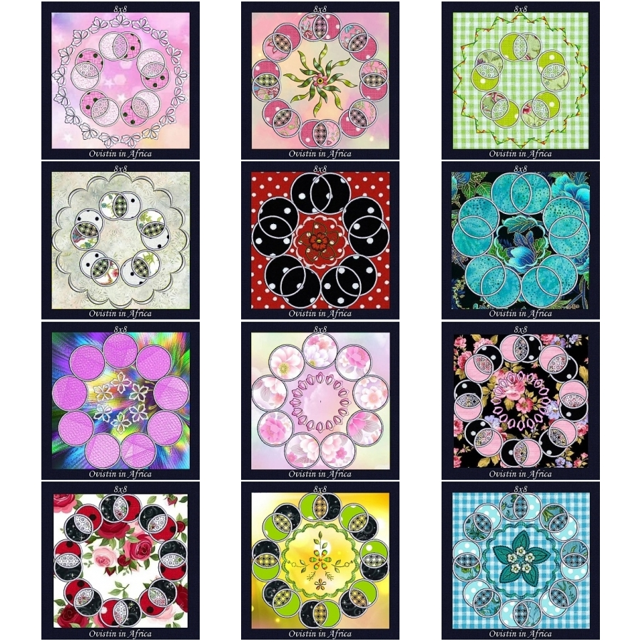 Applique Circle Quilt Blocks