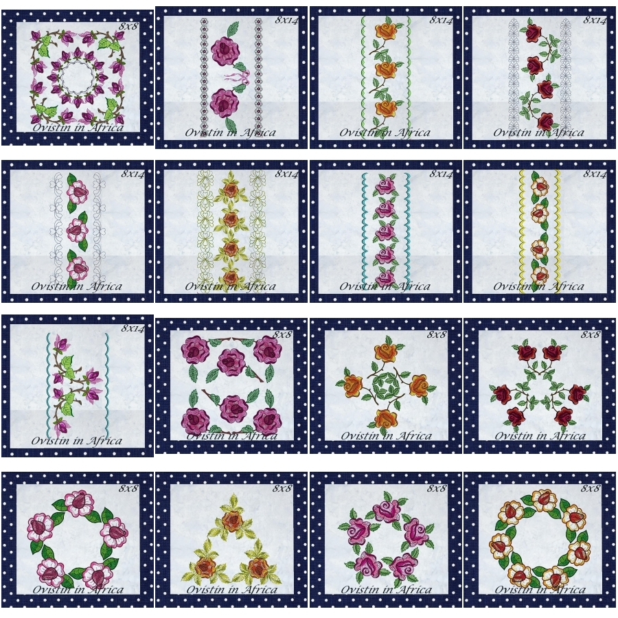 Rose Quilt Blocks and Borders