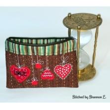 Heart Zippered Bag