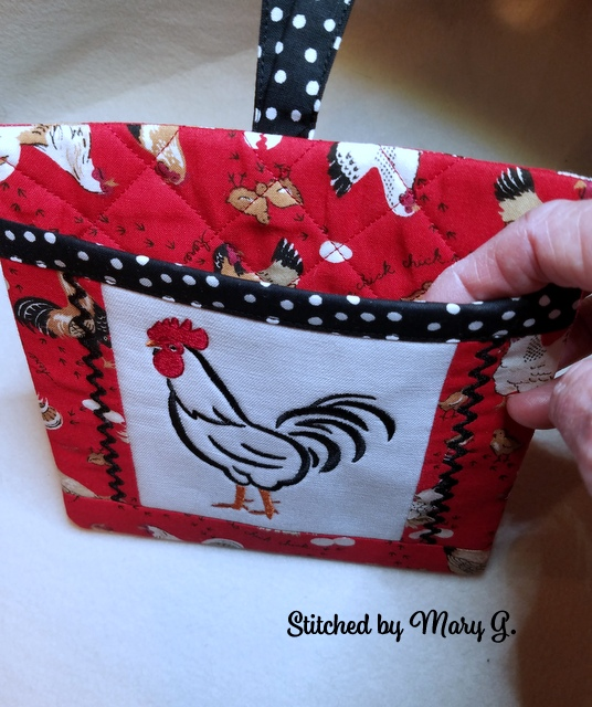 Rooster/Hen Pocket Potholders