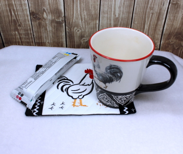 Rooster and Hen Mug Rugs