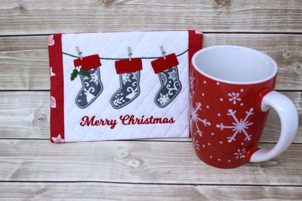 Stockings Mug Rug-3