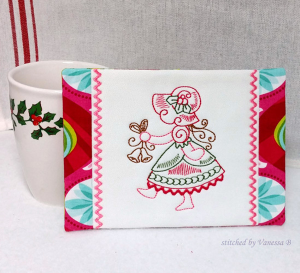 Christmas Bonnet Mug Rugs