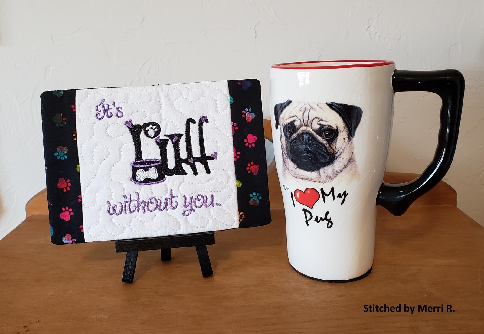 Ruff Mug Rug (ITH)