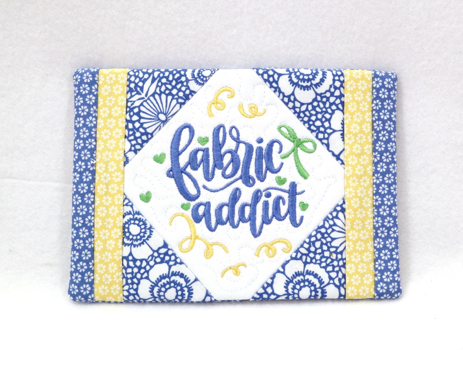 Fabric Addict Mug Rug-3