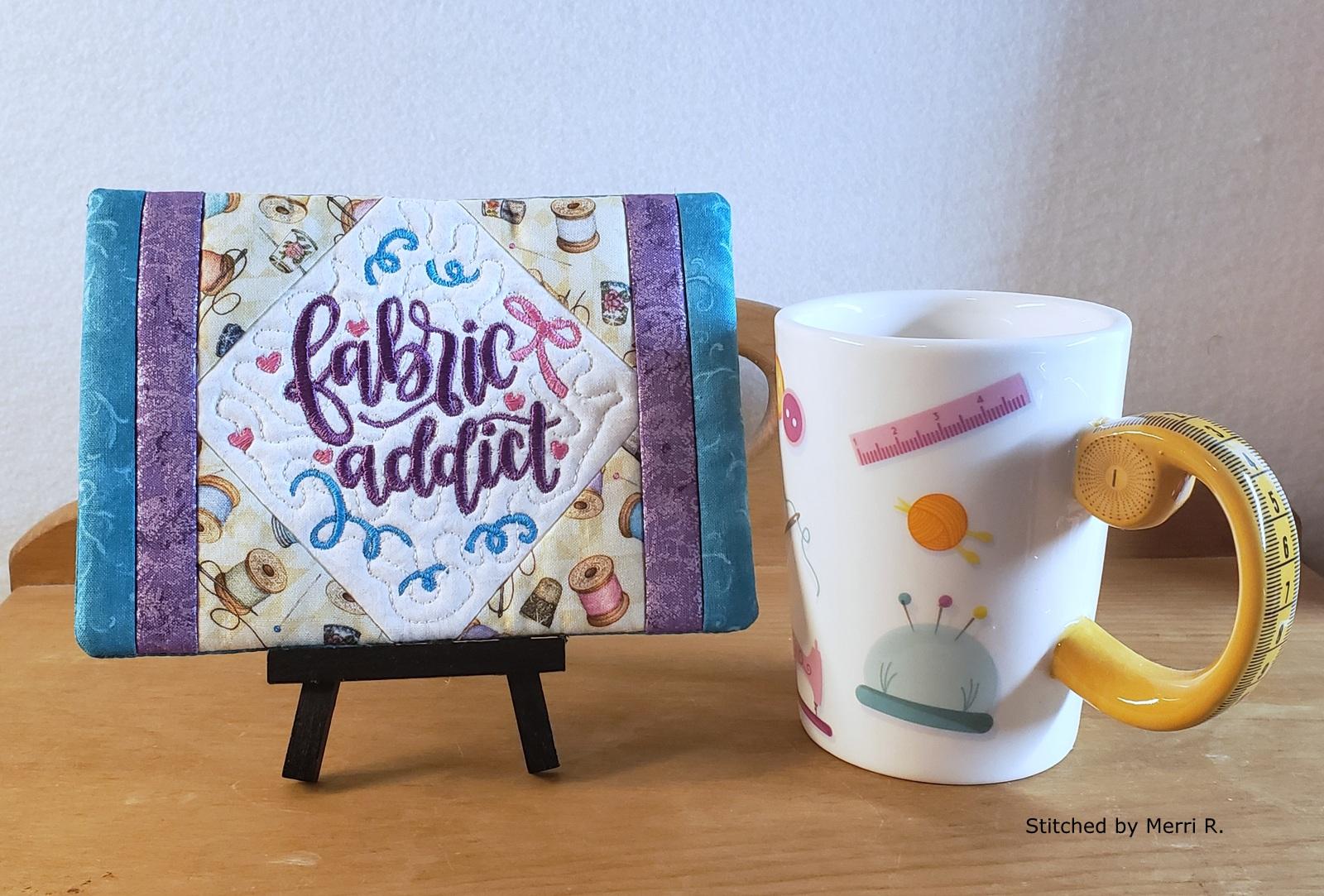 Fabric Addict Mug Rug-6