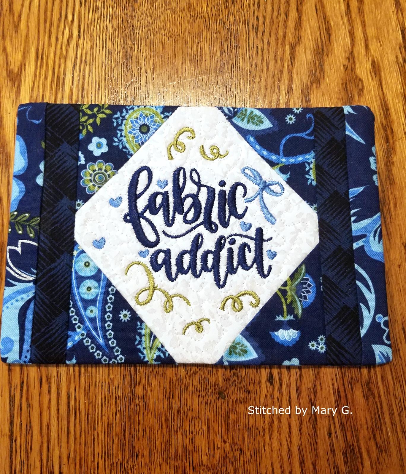 Fabric Addict Mug Rug-9