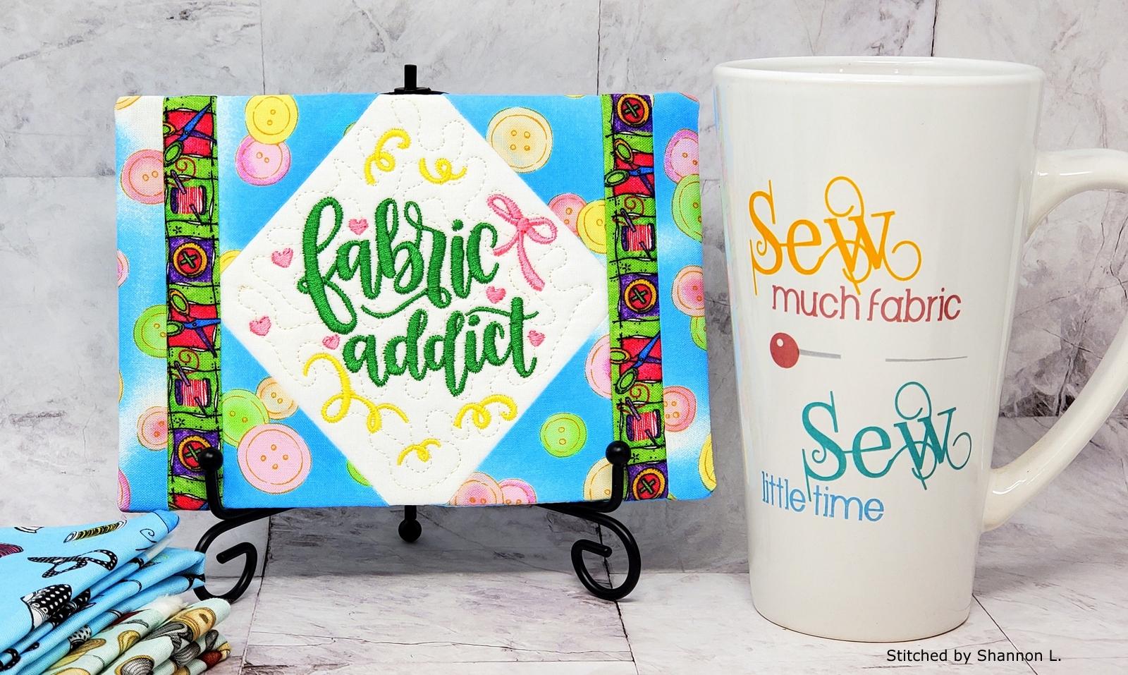 Fabric Addict Mug Rug-10