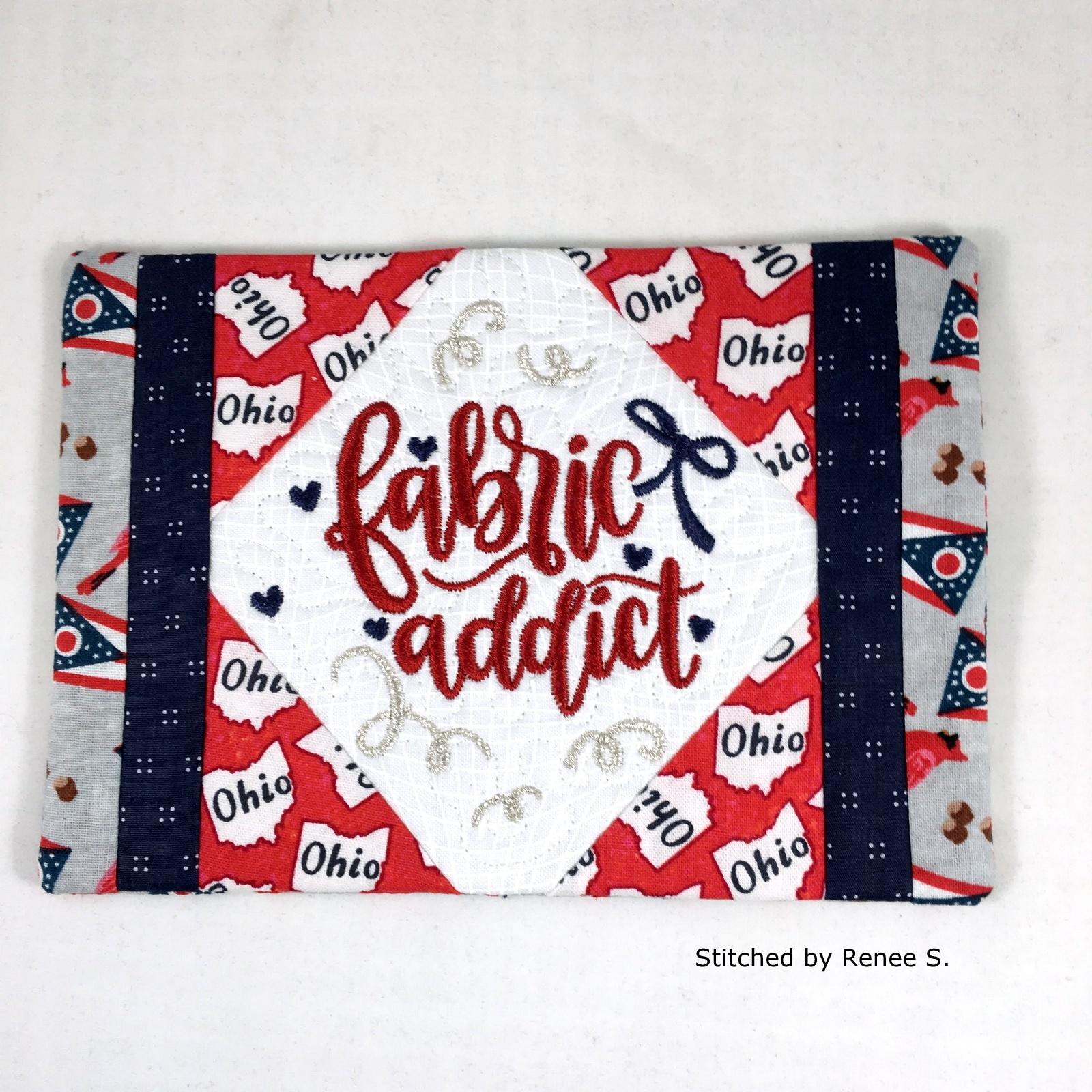 Fabric Addict Mug Rug-11