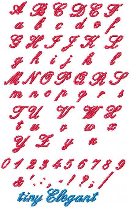 Tiny Elegant Font 3/8 inch-4