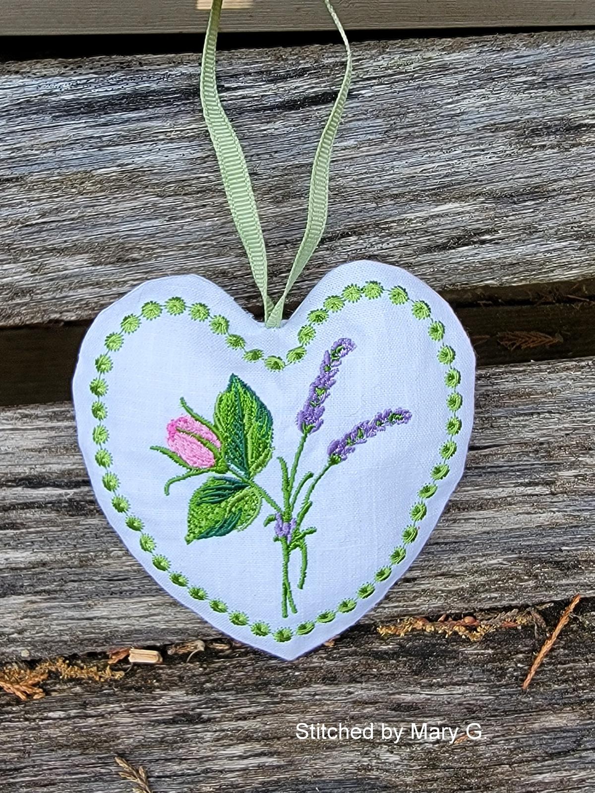 Lavender Heart Sachet-3