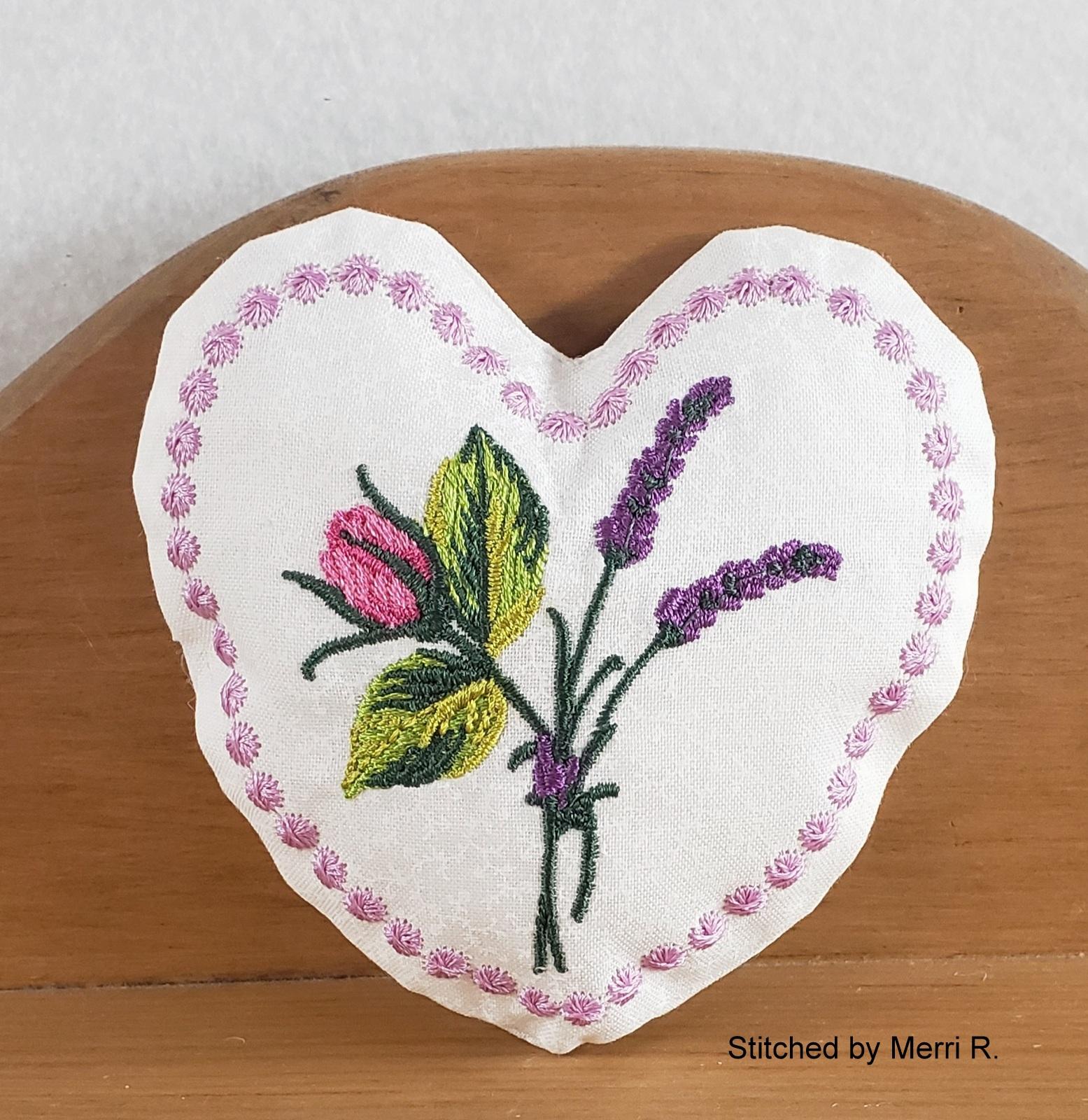 Lavender Heart Sachet-6