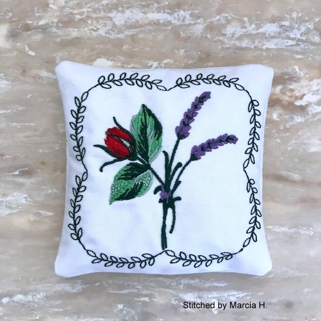 Lavender Rose Sachet-7