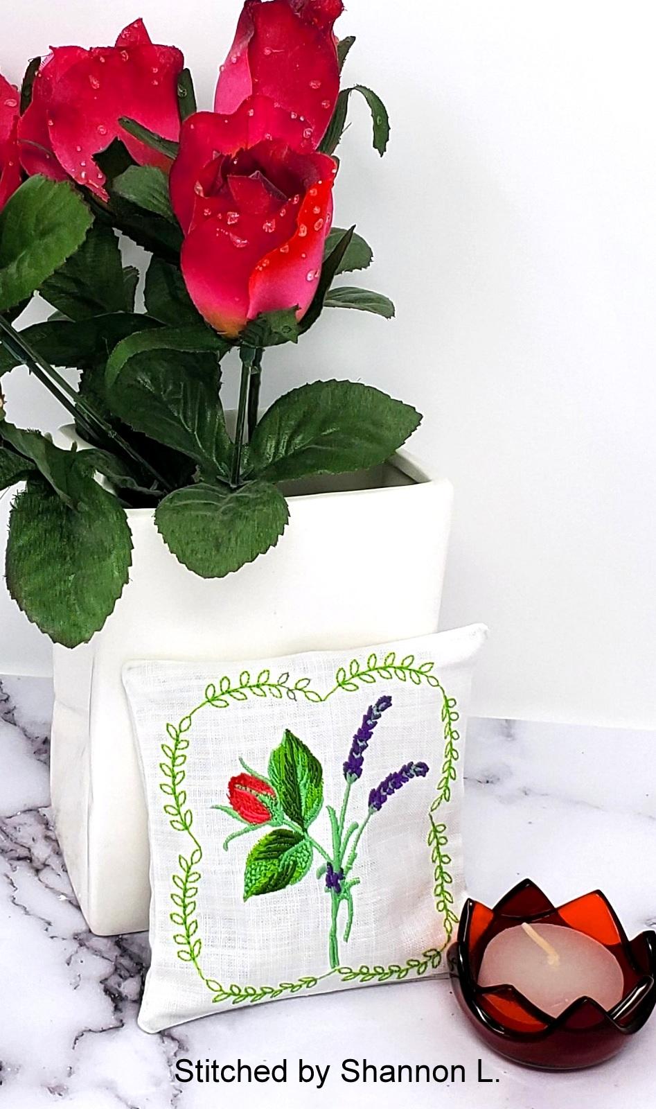 Lavender Rose Sachet-11