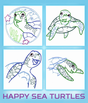 Happy Sea Turtles