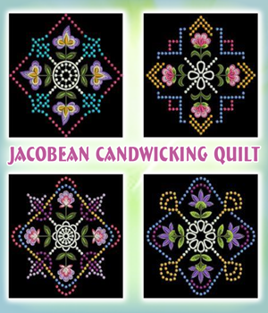 Jacobean Candwicking Quilt