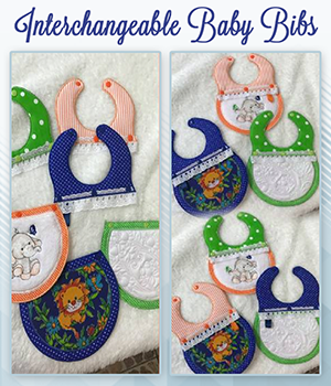 SDS1167 Interchangeable Baby Bibs