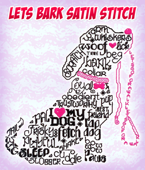 Lets Bark Satin Stitch