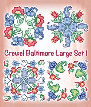 Crewel Baltimore Large Set 1